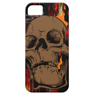 Caja ardiente de la casamata del cráneo funda para iPhone SE/5/5s