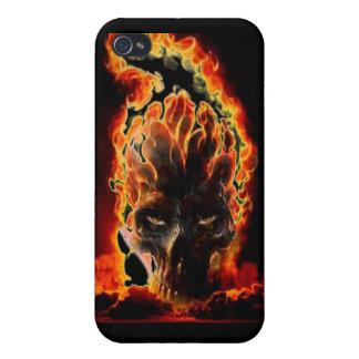 Caja ardiente del cráneo iPhone 4 cárcasa