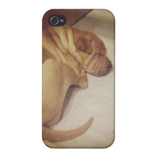 Caja arrugada del iPhone 4 del perrito iPhone 4/4S Fundas