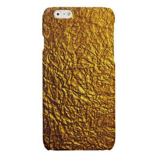 Caja arrugada del iPhone de la hoja de oro