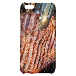 Caja asada a la parrilla del iPhone del filete
