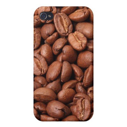 Caja asada del iPhone 4 de los granos de café iPhone 4/4S Carcasas