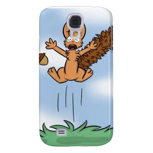 Caja asustada del iPhone 3G de la ardilla Funda Para Galaxy S4
