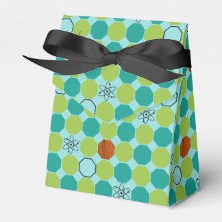 Caja atómica del favor de los octágonos cajas para regalos de fiestas
