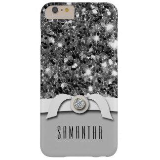Caja atractiva del confeti del brillo del diamante funda de iPhone 6 plus barely there