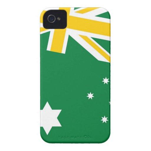 Caja australiana de Blackberry de la bandera que s iPhone 4 Case-Mate Carcasa