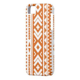 Caja azteca anaranjada quemada del teléfono de la  iPhone 5 protector