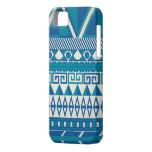 Caja azteca azul y blanca linda de Iphone 5 iPhone 5 Coberturas