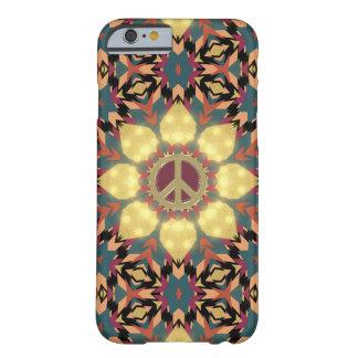 Caja azteca del teléfono del girasol de la paz del funda para iPhone 6 barely there