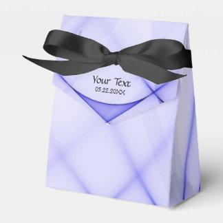 Caja azul abstracta del favor de fiesta del ritmo cajas para regalos de fiestas