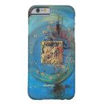 Caja azul abstracta del teléfono del arte de funda de iPhone 6 barely there