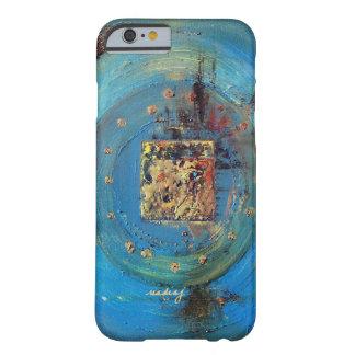 Caja azul abstracta del teléfono del arte de funda para iPhone 6 barely there