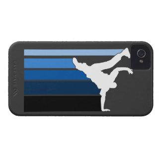 Caja azul/blanca de la pendiente de BBOY del iPhon Case-Mate iPhone 4 Funda