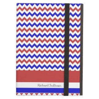 Caja azul blanca roja patriótica del iPad de los g