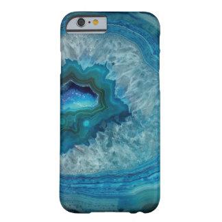 Caja azul bonita de la piedra preciosa de Geode Funda Barely There iPhone 6