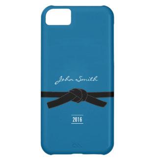 Caja azul brasileña del iPhone 5 de la correa negr Funda Para iPhone 5C