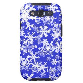 Caja azul brillante de la galaxia S de Samsung con Galaxy S3 Protector