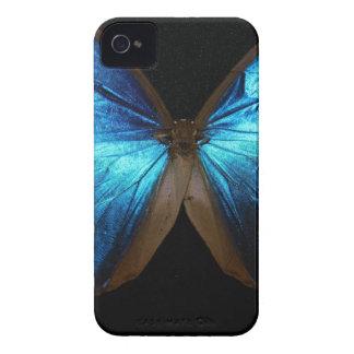 Caja azul brillante de la mariposa Case-Mate iPhone 4 coberturas