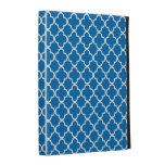 Caja azul brillante del iPad del modelo del trébol