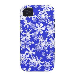 Caja azul brillante del iPhone 4 con los copos de  iPhone 4/4S Carcasa
