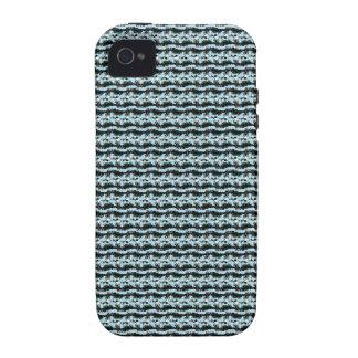 Caja azul claro y negra del iPhone 4 del modelo Case-Mate iPhone 4 Fundas