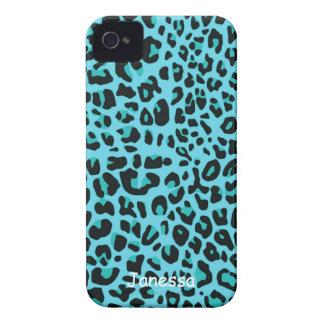 Caja azul de Blackberry del modelo de Jaguar Case-Mate iPhone 4 Fundas