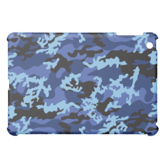 Caja azul de encargo del iPad de Camo