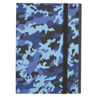 Caja azul de encargo del iPad del iCase de Camo Po