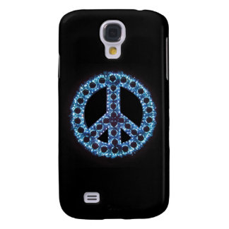 Caja azul de IPhone 3 de la paz