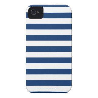 Caja azul de Iphone 4 4S del Sodalite de las rayas iPhone 4 Case-Mate Carcasas