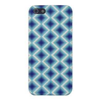Caja azul de IPhone de los diamantes iPhone 5 Fundas