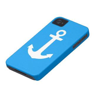 Caja azul de IPhone del ancla iPhone 4 Fundas