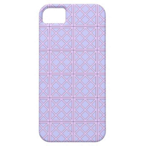 Caja azul de Iphone del fondo del diseño abstracto iPhone 5 Funda