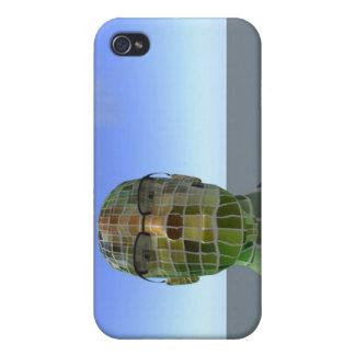 Caja azul de Iphone del horizonte del Bot a cuadro iPhone 4/4S Fundas