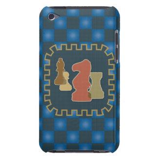 Caja azul de iPod de los pedazos de ajedrez iPod Touch Cárcasa