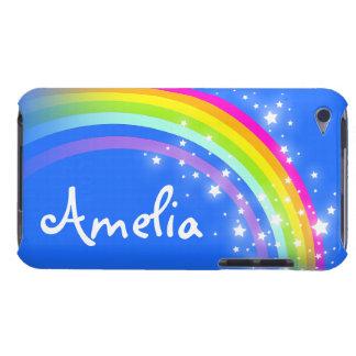 Caja azul de iPod del arco iris del nombre de letr Case-Mate iPod Touch Cárcasa