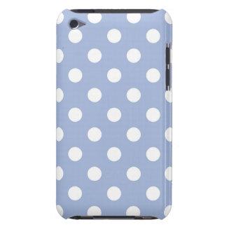 Caja azul de IPod del lunar de la lavanda iPod Case-Mate Carcasas