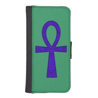 Caja azul de la cartera de Ankh Billetera Para iPhone 5