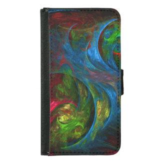 Caja azul de la cartera del arte abstracto de la