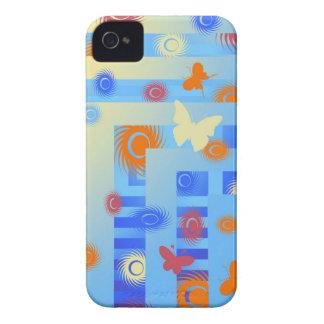 caja azul de la casamata de la mariposa Case-Mate iPhone 4 carcasa