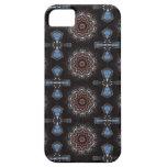 Caja azul de la cruz iPhone-5 iPhone 5 Protector