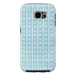 Caja azul de la galaxia 6 de Samsung de los Fundas Samsung Galaxy S6