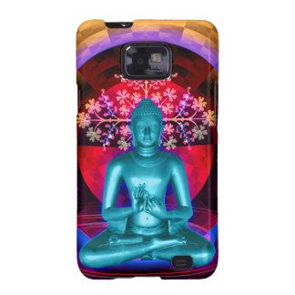 Caja azul de la galaxia S2 de Buda Samsung Samsung Galaxy S2 Funda
