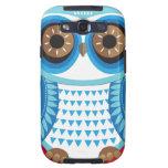 Caja azul de la galaxia S3 de Samsung del búho Samsung Galaxy S3 Cárcasas