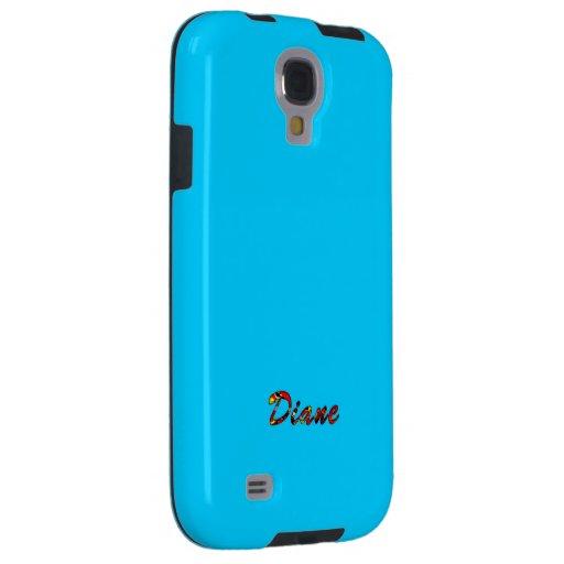 Caja azul de la galaxia s4 de Diane Samsung Funda Para Galaxy S4