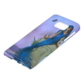 Caja azul de la galaxia S7 de Samsung de la sirena Fundas Samsung Galaxy S7