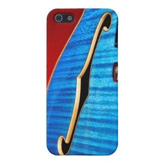 Caja azul de la guitarra iphone4 iPhone 5 fundas