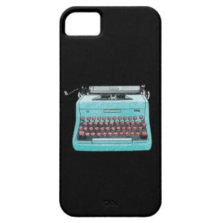 Caja azul de la máquina de escribir iPhone 5 carcasa