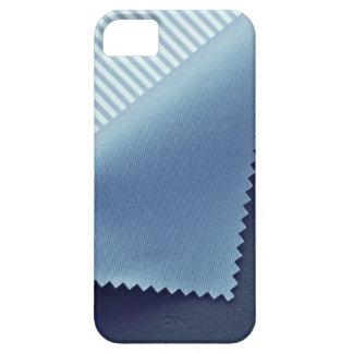 Caja azul de la materia textil para el iPhone 5/5S iPhone 5 Carcasas