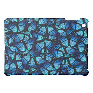 Caja azul de la mota de las mariposas
